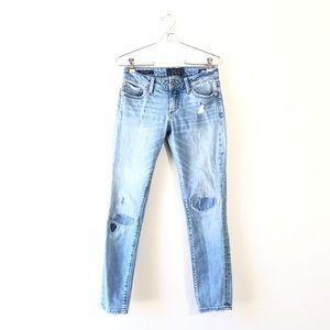 LUCKY BRAND Lolita Capri Patchwork Light Jeans 0